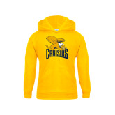 Youth Gold Fleece Hood-Canisius w/ Griff Stacked