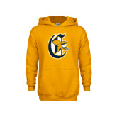 Youth Gold Fleece Hood-Old English C Griffs