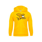 Youth Gold Fleece Hood-Griffin