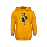 Youth Gold Fleece Hood-Petey