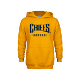 Youth Gold Fleece Hood-Lacrosse