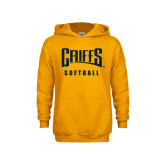 Youth Gold Fleece Hood-Softball
