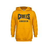 Youth Gold Fleece Hood-Soccer