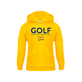 Youth Gold Fleece Hoodie-Golf Design