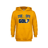 Youth Gold Fleece Hoodie-Tee Off Golf Design