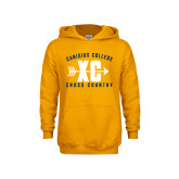 Youth Gold Fleece Hood-Cross Country Design