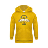 Youth Gold Fleece Hood-2017 MAAC Champions Baseball
