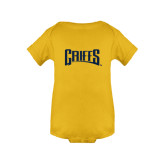 Gold Infant Onesie-Griffs Wordmark
