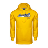 Under Armour Gold Performance Sweats Team Hoodie-Baseball Script w/ Bat Design