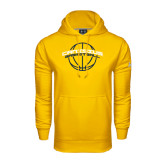 Under Armour Gold Performance Sweats Team Hoodie-Basketball Ball Design