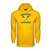 Under Armour Gold Performance Sweats Team Hoodie-Lacrosse Crossed Sticks Design