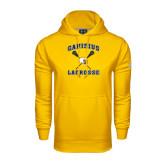 Under Armour Gold Performance Sweats Team Hoodie-Lacrosse Crossed Sticks Design