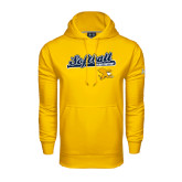 Under Armour Gold Performance Sweats Team Hoodie-Script Softball w/ Bat Design