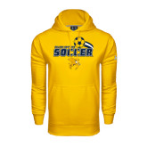 Under Armour Gold Performance Sweats Team Hoodie-Soccer Swoosh Design