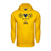Under Armour Gold Performance Sweats Team Hoodie-Just Kick It Soccer Design
