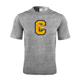 Performance Grey Heather Contender Tee-Capital C Griffs