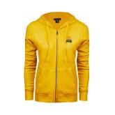 ENZA Ladies Gold Fleece Full Zip Hoodie-Canisius w/ Griff Stacked