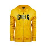 ENZA Ladies Gold Fleece Full Zip Hoodie-Griffs Wordmark