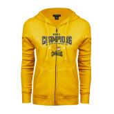 ENZA Ladies Gold Fleece Full Zip Hoodie-2016 MAAC Champions Womens Lacrosse