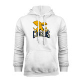 White Fleece Hoodie-Canisius w/ Griff Stacked