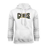 White Fleece Hoodie-Griffs Wordmark