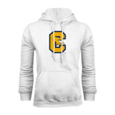 White Fleece Hoodie-Capital C Griffs