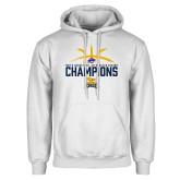White Fleece Hoodie-Mens Basketball Regular Season Champions