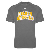 Under Armour Carbon Heather Tech Tee-Arched Golden Griffins