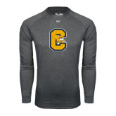 Under Armour Carbon Heather Long Sleeve Tech Tee-Capital C Griffs