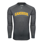Under Armour Carbon Heather Long Sleeve Tech Tee-Arched Canisius