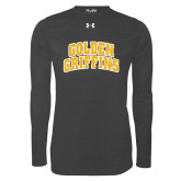 Under Armour Carbon Heather Long Sleeve Tech Tee-Arched Golden Griffins