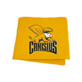 Gold Sweatshirt Blanket-Canisius w/ Griff Stacked