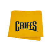 Gold Sweatshirt Blanket-Griffs Wordmark