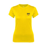 Ladies Syntrel Performance Gold Tee-Griffs w/ Griff Stacked