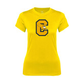 Ladies Syntrel Performance Gold Tee-Capital C Griffs