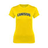 Ladies Syntrel Performance Gold Tee-Arched Canisius