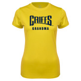 Ladies Syntrel Performance Gold Tee-Grandma