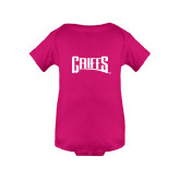 Fuchsia Infant Onesie-Griffs Wordmark
