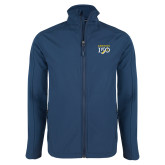 College Navy Softshell Jacket-Sesqui Text