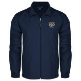 College Full Zip Navy Wind Jacket-Sesqui Crest Dates