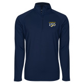 College Sport Wick Stretch Navy 1/2 Zip Pullover-Sesqui Text