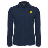 College Fleece Full Zip Navy Jacket-Sesqui Crest