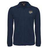 College Fleece Full Zip Navy Jacket-Sesqui Text