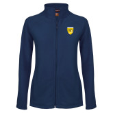 College Ladies Fleece Full Zip Navy Jacket-Sesqui Crest