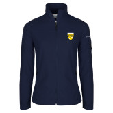 College Columbia Ladies Full Zip Navy Fleece Jacket-Sesqui Crest