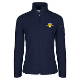 College Columbia Ladies Full Zip Navy Fleece Jacket-Sesqui Crest Dates