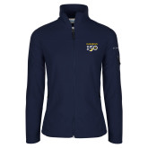 College Columbia Ladies Full Zip Navy Fleece Jacket-Sesqui Text