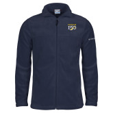 College Columbia Full Zip Navy Fleece Jacket-Sesqui Text