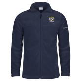 College Columbia Full Zip Navy Fleece Jacket-Sesqui Crest Dates