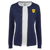 College Ladies Navy Cardigan-Sesqui Crest